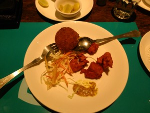 Rawas Koliwada and Mochar Chops (Veg)